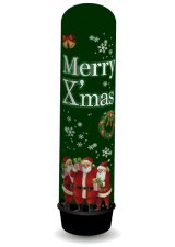エア看板 Xmasプレゼントサンタグリーンバルーン【受注生産】クリスマス【X'mas販促】
