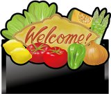 【野菜 Welcome】デコレーションパネル