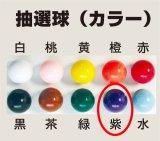 【抽選球 紫】ガラポン抽選器・ガラガラ抽選機用抽選球 抽選器の玉 抽選玉