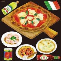 【イタリアン(8) ピッツァ4種】デコレーションシール