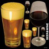 【ビールと赤ワイン】デコレーションシール