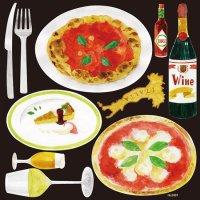 【イタリアン(9) ピッツァ&ケーキ】デコレーションシール