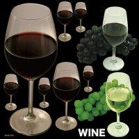 【赤ワインと白ワイン】デコレーションシール