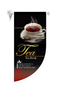 【紅茶】既製小型ラウンドフラッグ