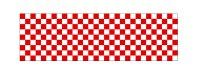 【市松模様/紅白】ロール幕 W10,200×H900mm