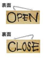 OPEN/CLOSE 木製サイン(小)