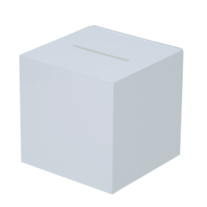 画像1: 【アクリル応募箱/白】募金箱 ※代引不可商品  (1)