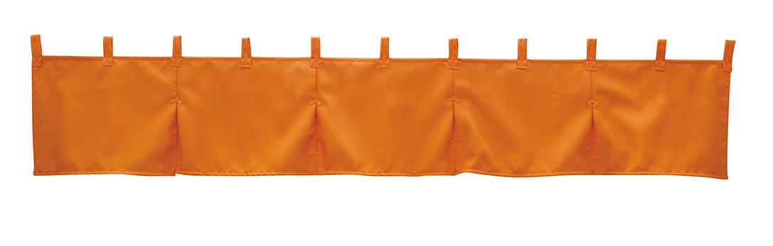 画像1: カウンターのれん オレンジ 防炎 No.1940 サイズ:1750mm×300mm (1)