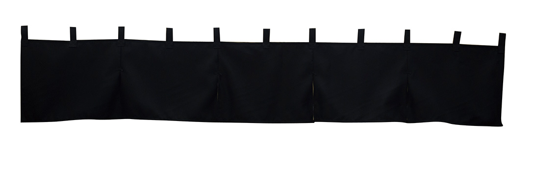 画像1: カウンターのれん ブラック 防炎 No.1943 サイズ:1750mm×300mm (1)