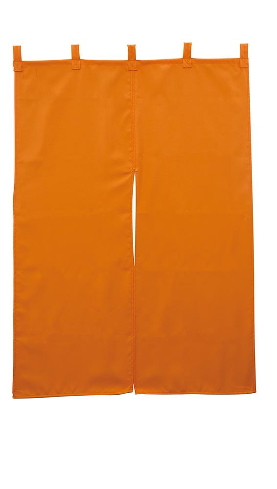 画像1: 防炎のれん【半間のれん/オレンジ】  (1)