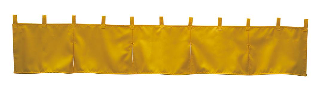 画像1: カウンターのれん パーシモン 防炎 No.1941 サイズ:1750mm×300mm (1)